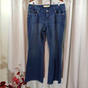 SEVEN 7 Plus Size Bootcut Stretchy Blue Jeans